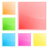 Plastic-squares-banner-isolated-white-background — Stock Vector