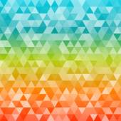 Rainbow-gradient-background-glowing-triangles-freshness — Stock Vector