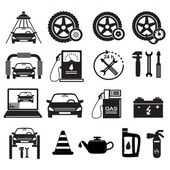 Set-of-icons-service-car-repair-isolated — Stock Vector