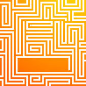 Yellow-sunny-background-glowing-maze-summer — Stock Vector