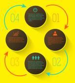Infographics-presentation-template-options-step-arrow — Stock Vector