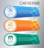 Service-car-repair-button-horizontal-banner — Stock Vector