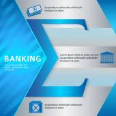 Banking-brochure-template-business-style-presentation — Stock Vector