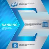 Banking-brochure-template-business-style-presentation — Stockvector