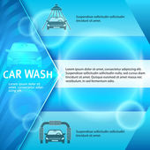 Car-washing-template-page-booklet-background — Wektor stockowy