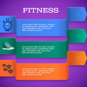 Fitness-template-brochure-page-purple-background — Stock Vector