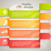 Healthy-lifestyle-brochure-organic-food-template — Vettoriale Stock