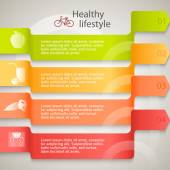 Healthy-lifestyle-brochure-organic-food-template — Stock Vector