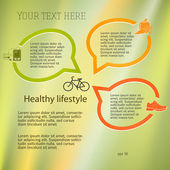 Healthy-lifestyle-concept-layout-leaflets — Stock Vector