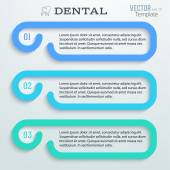 Dental-horizontal-banner-template-toothpaste — Stock Vector