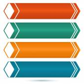 Horizontal-banner-set-of-colored-arrows — Stock Vector