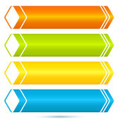Horizontal-banner-set-of-colored-arrows-freshness — Stock Vector