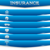 Insurance-services-concept-on-white-background-blue-stripe-card — 图库矢量图片