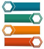 Banner-horizontal-effect-paper-white-background — Stock Vector