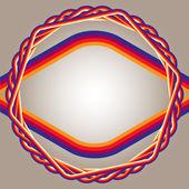 Beige-color-gradient-background-frame-fiber-cable — Stock Vector