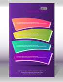 Flyer-vertical-layout-page-purple-background — Stock vektor