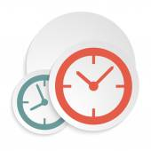 Clock-icon-isolated-white-background — ストックベクタ