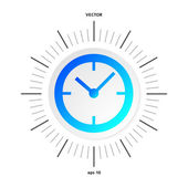 Time-clock-icon-isolated-white-background — Vettoriale Stock