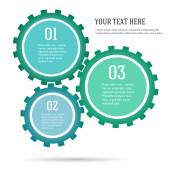 Gears-concept-green-energy-infographics-flat-style — Stock Vector