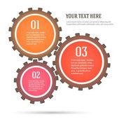Gears-concept-mechanics-infographics-flat-style — Stock Vector