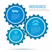 Gears-concept-of-insurance-infographics-flat-style — Stock Vector