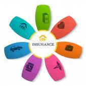 Info-flower-pattern-presentation-insurance-empty — Stock Vector