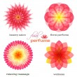Pink-flowers-set-logo-icon-floral-fragrance — Stock Vector #62095743
