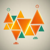 Vintage-background-triangle-infographics-design-element — Stockvektor
