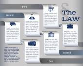 Infographics-layout-legal-law-lawyer — Stockvector