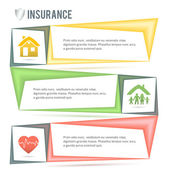 Insurance-services-company-presentation-template — Stock Vector