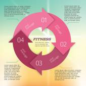 Fitness-brochure-page-background-blur-gradient — Stock Vector