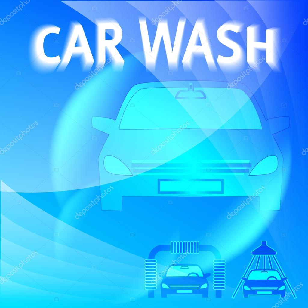 carwash layout cover page flyer washing car stock vector car wash blue light background icons design elements modern business presentation template for car wash flyer abstract vector illustration eps 10 can