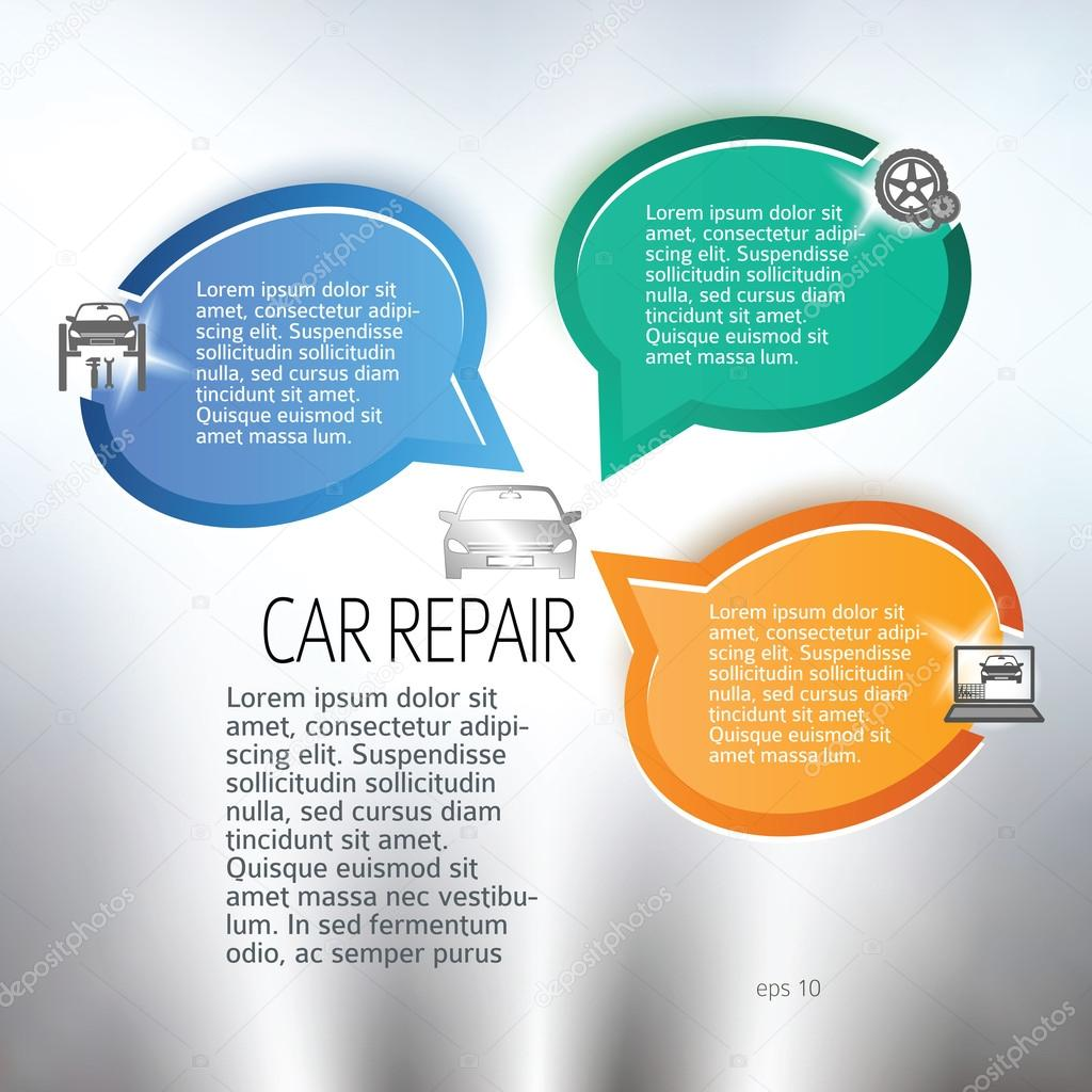 auto repair and car service background layout flyers page stock auto repair and car service background layout flyers page stock illustration