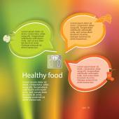 Healthy-eating-and-weight-loss-concept-layout-leaflets — Stock Vector