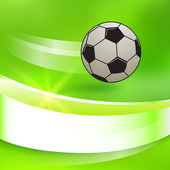 Soccer-ball-on-a-green-bright-glowing-background — Stock Vector