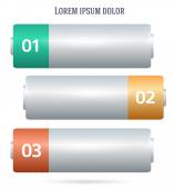 Battery-template-horizontal-banner-background2 — Stock Vector