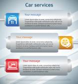 Car-service-banner-horizontal-battery — Stock Vector
