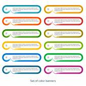 Set de efecto horizontal banners pintura del cepillo — Vector de stock