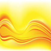 Abstract yellow background glowing effect wavy lines — Stock Vector