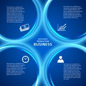 Business presentation template blue background cover page — 图库矢量图片