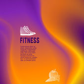 Fitness theme wavy lines glowing effect — Wektor stockowy