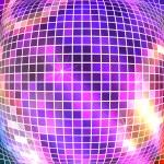 Bright sparkling mosaic squares disco ball convex — Stock Vector #68448379