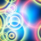 Festive bright blue background blur circles fun — Stock Vector