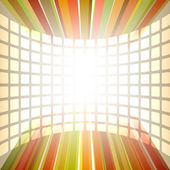 Background of flying squares rectangles glow vertical line — Stockvector