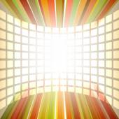 Background of flying squares rectangles glow vertical line — Vector de stock