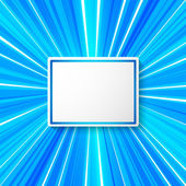 Line rays from the center blue background page label — Stock Vector