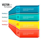 Business template presentation infographics glowing stripes — Stock Vector