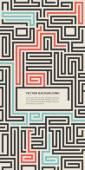 Retro flyer maze puzzle grunge background — Stock Vector