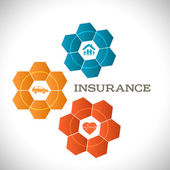 Techno flower concept insurance infographics template — Stock Vector