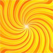 Yellow spiral twist background bright light center — Stock Vector